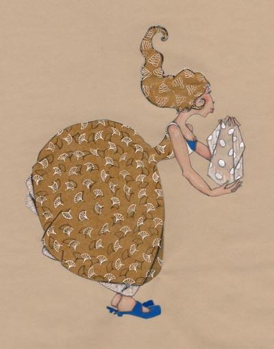 petite demoiselle avec un mouchoir