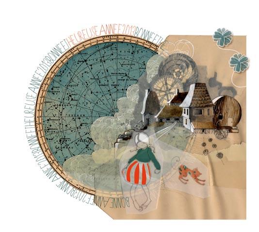 paysage en collage